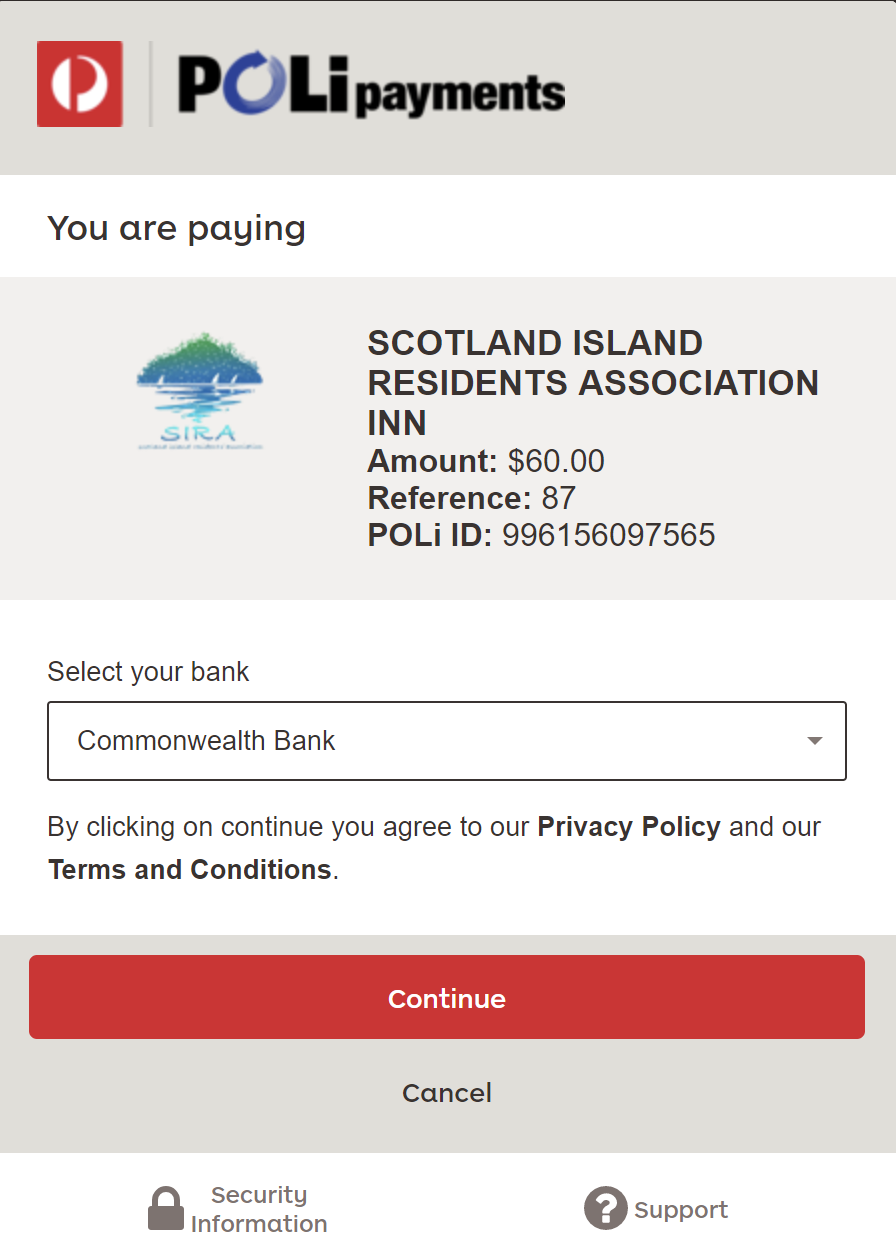 Scotland Island Residents' Association - How to pay your